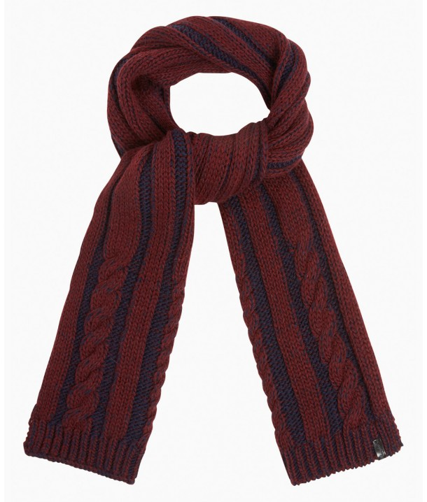Wrangler Cable Scarf W0S09 Rhubarb Red W0S09U2RO