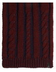 Wrangler Cable Scarf W0S09 Rhubarb Red