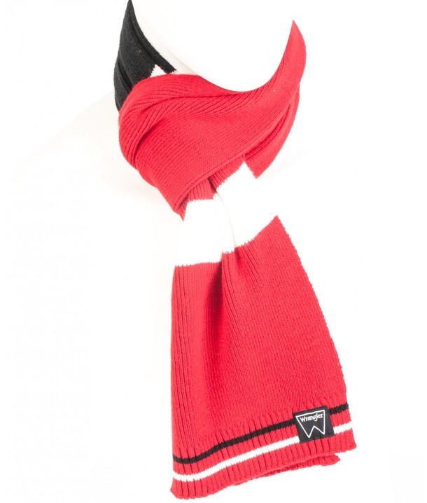 Wrangler COLORBLOCK SCARF W0S45 Black-Red-White W0S45UH01
