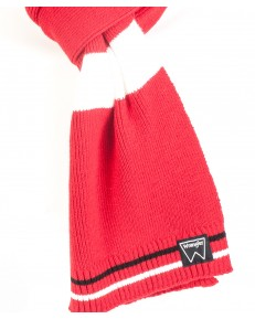 Szalik Wrangler COLORBLOCK SCARF W0S45 Black-Red-White