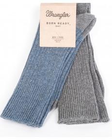 Wrangler Socks 2PACK Grey/Blue Grey Mel