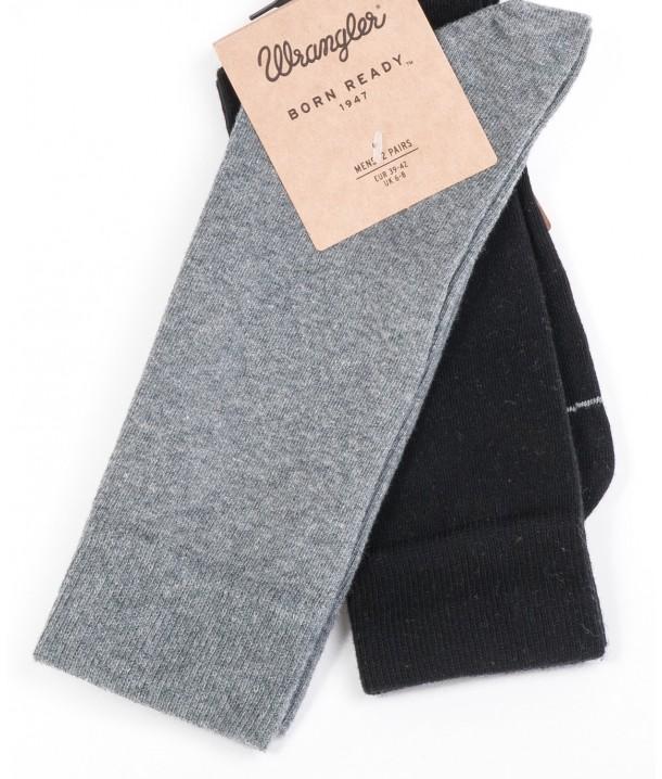 Wrangler Socks 2PACK Black/Grey W0Z03UE01
