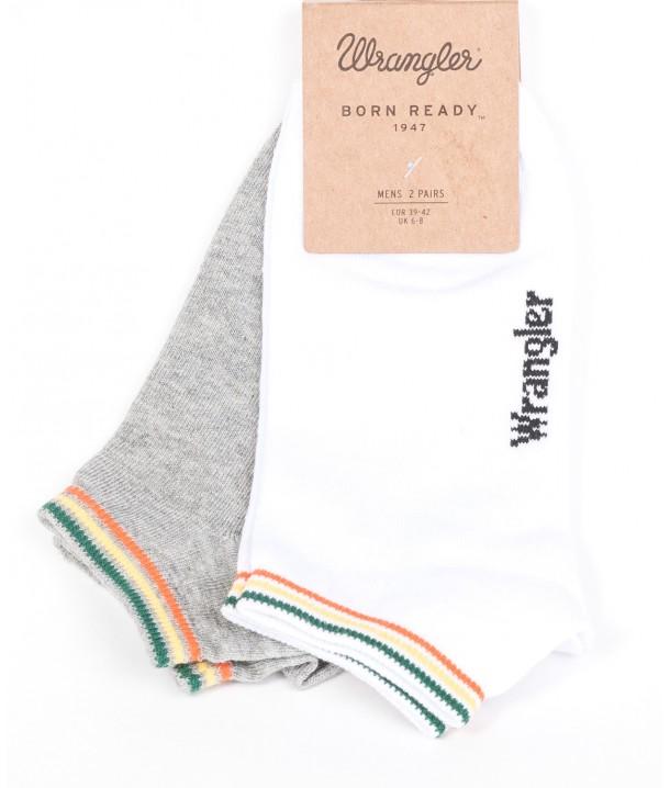 Wrangler Socks 2PACK White/Grey W0Z14UD12