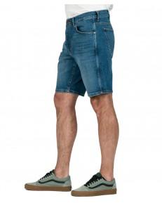 Wrangler 5 Pocket Short W14C Worn Blue