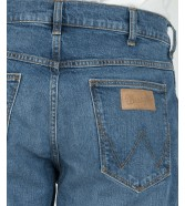 Wrangler 5 Pocket Short W14C Worn Blue