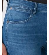 Jeansy Wrangler Skinny Crop Zip W225 Light Breeze