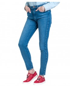 Jeansy Wrangler High Rise Skinny W27H Pool Blue