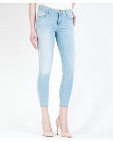 Jeansy Wrangler Skinny Crop Zip W225 Light Indigo