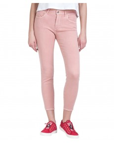 Jeansy Wrangler Skinny Crop W28M Paradise Pink
