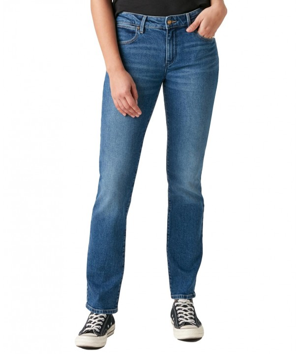 Jeansy Wrangler Straight W28T Air Blue