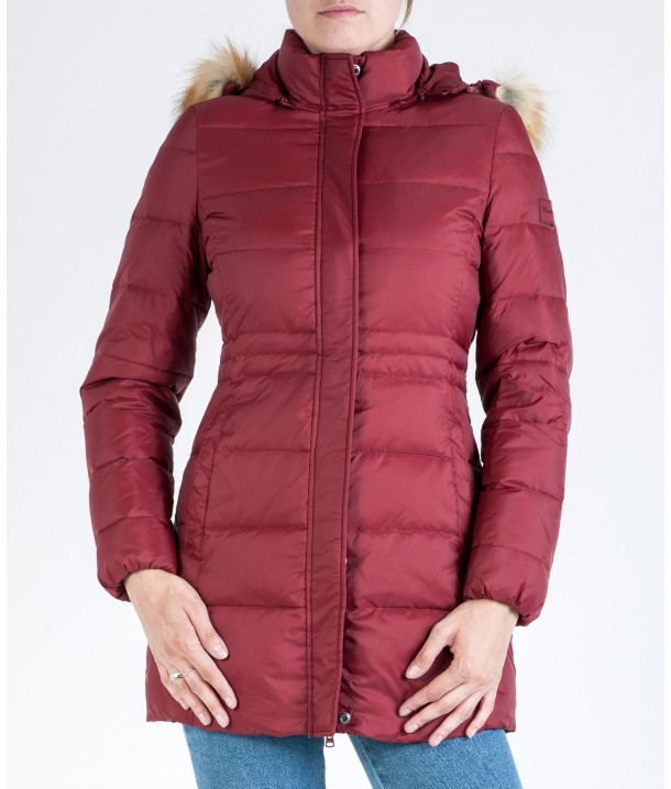 Wrangler Jacket LONG PUFFER W4105 Syrah Red W4105V5S6