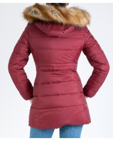 Wrangler Jacket LONG PUFFER W4105 Syrah Red