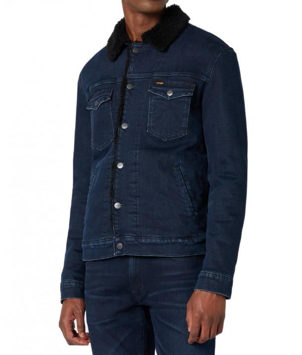 Wrangler SHERPA JACKET Javlin Blue W423P2510
