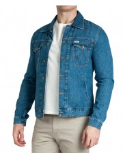 Wrangler REGULAR DENIM JACKET W443 Bora Blue