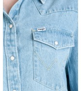 Wrangler BOYFRIEND DENIM SHIRT W500B Bleach