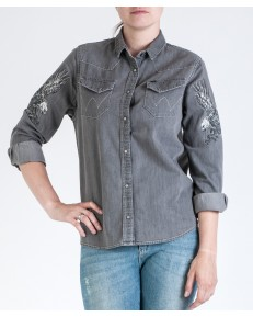 L/S EAGLE DENIM SHIRT W5178 Grey Denim