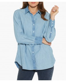 L/S BOYFRIEND SHIRT W5217 Light Indigo