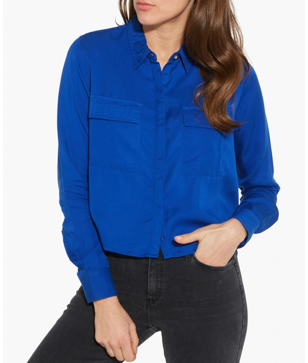 L/S CROPPED UTILITY W5220 Surf Blue