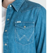 Wrangler WESTERN SHIRT W5245 Light Indigo