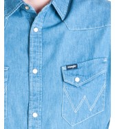 Wrangler WESTERN SHIRT W5870 Light Indigo