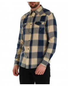 Koszula Wrangler LS WESTERN SHIRT W5A03 Gravel