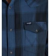 Koszula Wrangler LS WESTERN SHIRT W5A03 Dark Denim