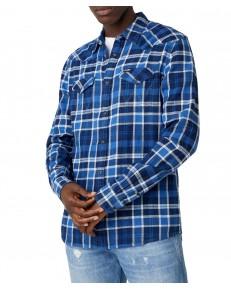 Koszula Wrangler LS WESTERN SHIRT W5A03 Limoges Blue