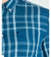 Wrangler LS 1PKT BUTTON DOWN SHIRT W5A36 Blue Topaz