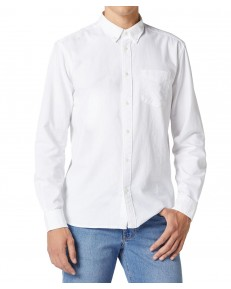 Wrangler LS 1PKT BUTTON DOWN SHIRT W5A3B White