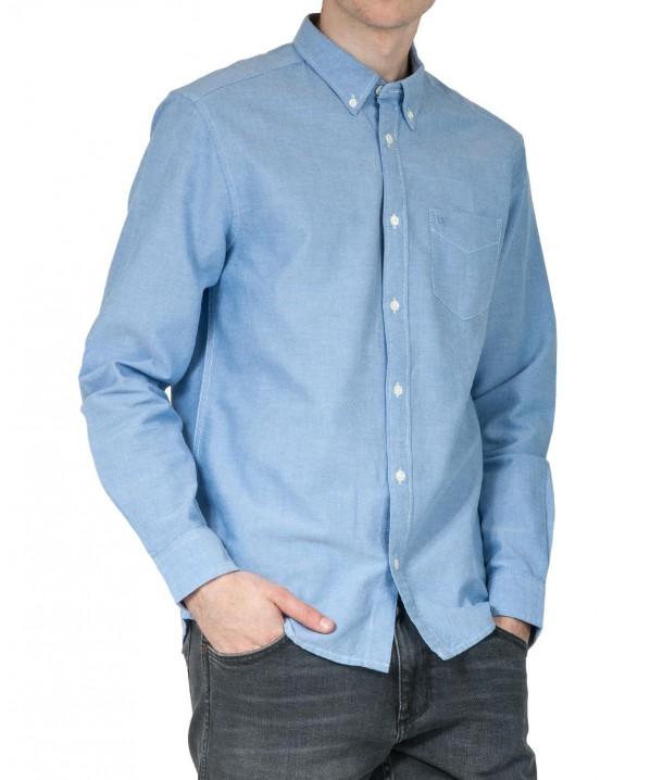 Koszula Wrangler LS 1PKT BUTTON DOWN SHIRT W5A3B Limoges Blue