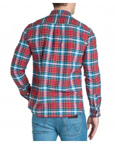 Wrangler LS 1PKT BUTTON DOWN SHIRT W5A3B Formula Red