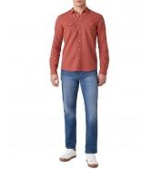 Koszula Wrangler LS 2PKT FLAP SHIRT W5A5L Barn Red