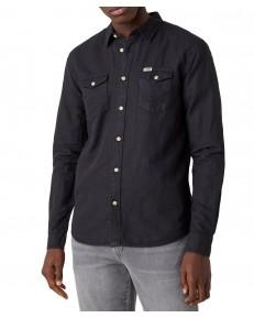 Koszula Wrangler LS 2PKT FLAP SHIRT W5A5L Faded Black