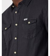 Wrangler LS 2PKT FLAP SHIRT W5A5L Faded Black