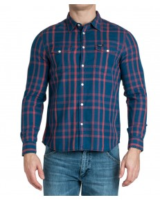 Koszula Wrangler LS 2PKT FLAP SHIRT W5A56 Formula Red