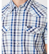 Koszula Wrangler SS WESTERN SHIRT W5J04 Cerulean Blue