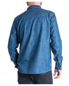 Koszula Wrangler DENIM SHIRT W5M12 Dark Indigo