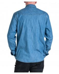 Koszula Wrangler DENIM SHIRT W5M12 Mid Indigo