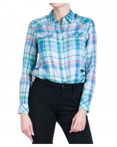 Koszula Wrangler WESTERN CHECK SHIRT W5N1O Cashmere Blue