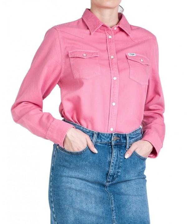 Wrangler JEANIES WESTERN SHIRT W5Q18 Bubblegum Pink