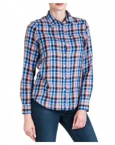 Wrangler SLIM REGULAR SHIRT W5R0O Cobalt Blue