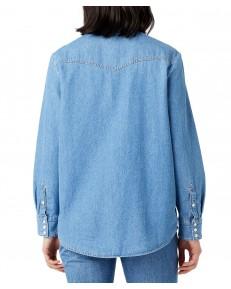Koszula Wrangler HERITAGE SHIRT W5S9 Mid Indigo