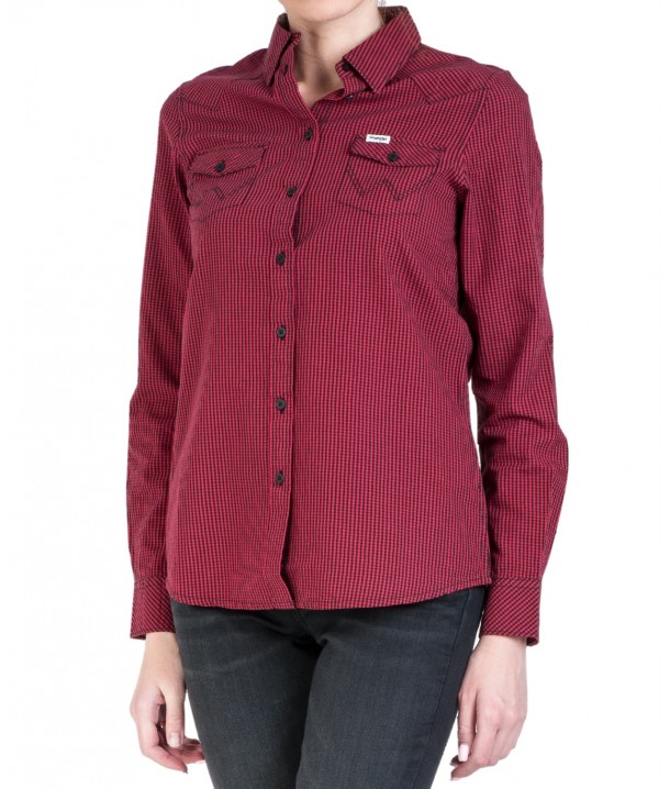 Wrangler LS WESTERN SHIRT W5Z04 Magenta Red W5Z04MR01