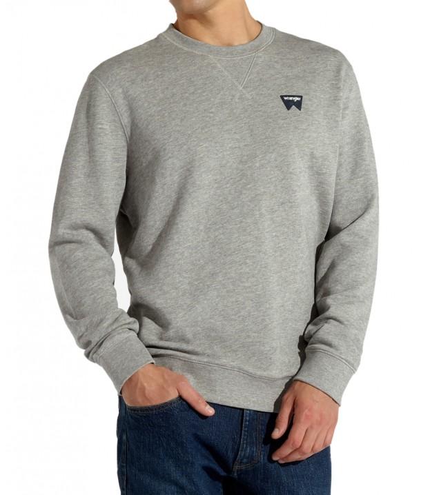 Bluza Wrangler SIGN OFF CREW W6589 Mid Grey Mel W6589HA37