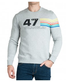 Wrangler SEASONAL LOGO SWEAT W6A5H Light Grey Mel