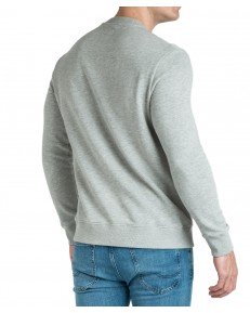 Wrangler SEASONAL LOGO SWEAT W6A5H Mid Grey Mel