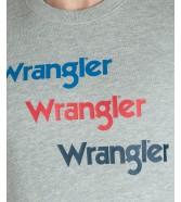 Wrangler SEASONAL LOGO SWEAT W6A5H Mid Grey Mel