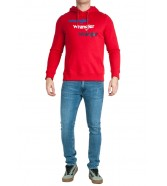 Wrangler REPEAT HOODIE W6A8H Formula Red