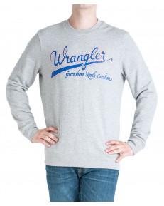 Wrangler LOGO SWEAT W6B6H Mid Grey Mel