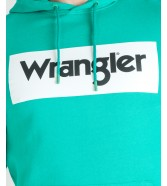 Wrangler LOGO HOODIE W6B9H Peacock Green